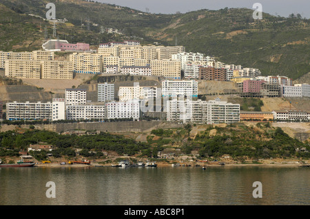 New, modern and higher built city along the Yangtze river, China - Stock Photo