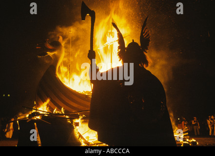 Up Helly Aa Lerwick Shetlands Scotland Celebration of the midwinter festival old  style calendar January 28th. HOMER - Stock Photo