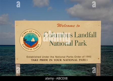 Grand Turk Island Columbus Landfall National Park Turks and Caicos Islands Caribbean cruise destination - Stock Photo