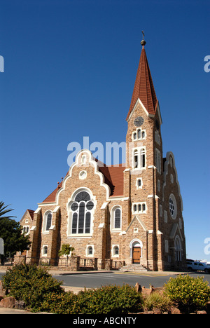 Christus Kirche Windhoek Namibia  Southern Africa - Stock Photo