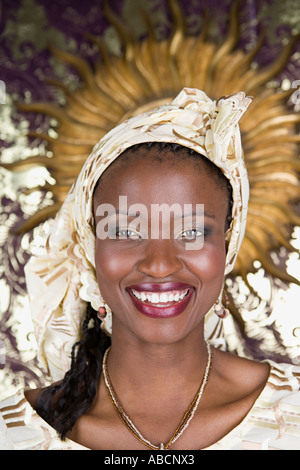 Portrait of a jamaican woman - Stock Photo