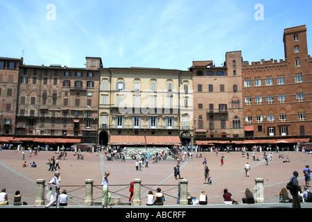 Il Campo in Siena Tuscany - Stock Photo
