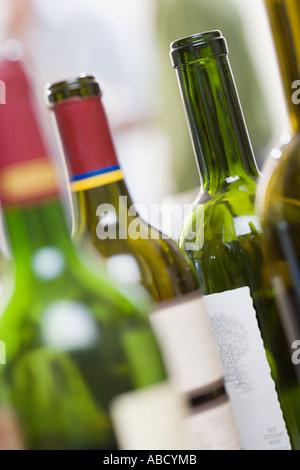 Empty wine bottles - Stock Photo