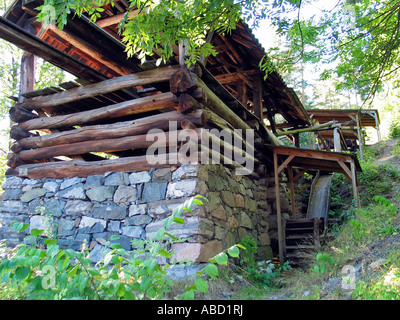 Old sawing mill like it was once in Norway, Norwegian folk museum, Oslo, Norway - Stock Photo