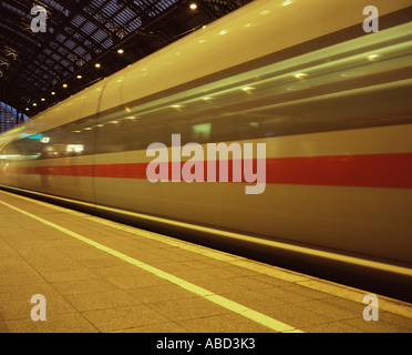Moving train - Stock Photo