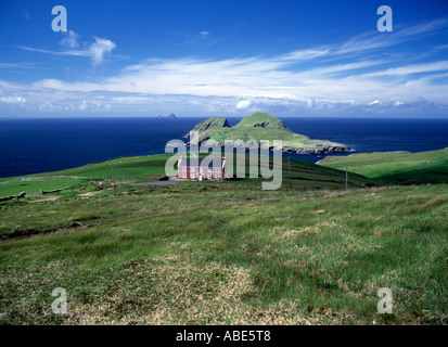 large dwelling sits on its own overlooking spectacular atlantic coastal scenery, beauty in  nature, - Stock Photo