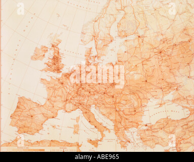Map of Europe - Stock Photo