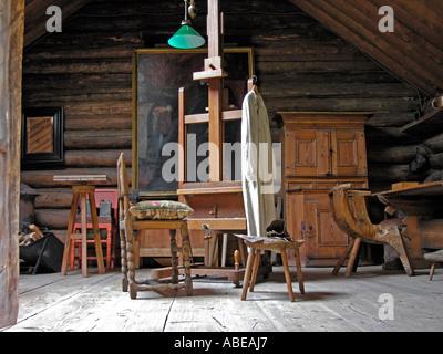 studio of the artist painter Anders Zorn in Mora at lake Siljan in Dalarna - Stock Photo