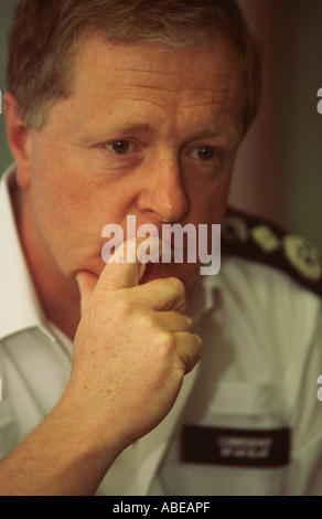 Sir Ian Blair Metropolitan Police Commissioner at a meeting at a police station in Dalston Hackney London UK - Stock Photo