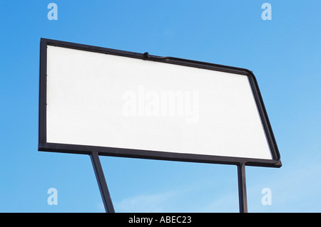 Blank white sign or billboard - Stock Photo