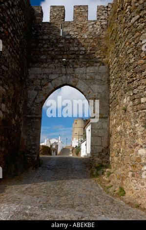 Porta do Sol door Évoramonte Estremoz Évora Alentejo Portugal - Stock Photo