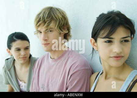 Young friends, portrait - Stock Photo