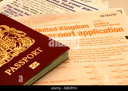 Uk British Passport Application Form And Photograph Photo Stock