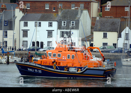 Weymouth Lifeboat, 17-32 Ernest and Mabel in the Harbour, Weymouth, Dorset, Britain, UK - Stock Photo