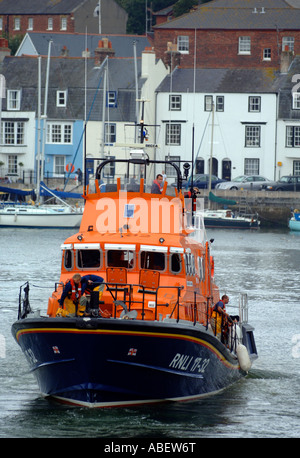 Weymouth Lifeboat in the Harbour, Weymouth, Dorset, Britain, UK - Stock Photo