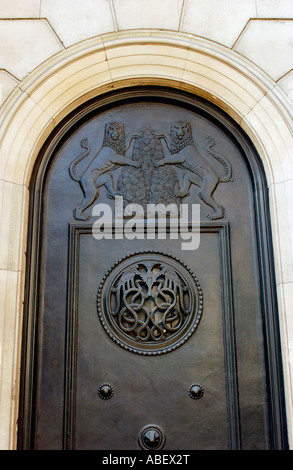 Detail on decorative door at The Bank of England London - Stock Photo