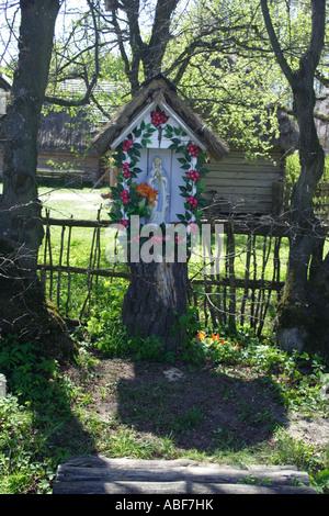 Shrine in Zagroda Guciow Poland - Stock Photo