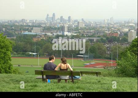 Hampstead Heath in London England - Stock Photo
