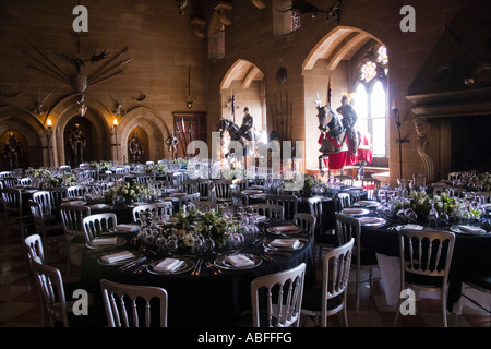The Great Hall, Warwick Castle, Warwick, Warwickshire, England - Stock Photo