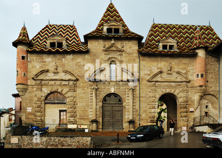 Saint-Antoine l'Abbaye, exterior walls - Stock Photo