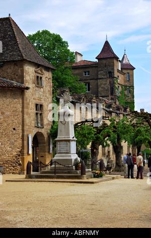 Saint-Antoine l'Abbaye, courtyard - Stock Photo