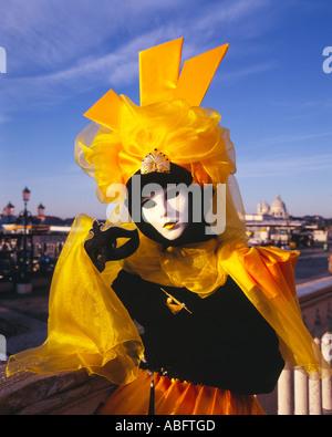 Europe Italy Veneto Venice Carnival - Stock Photo
