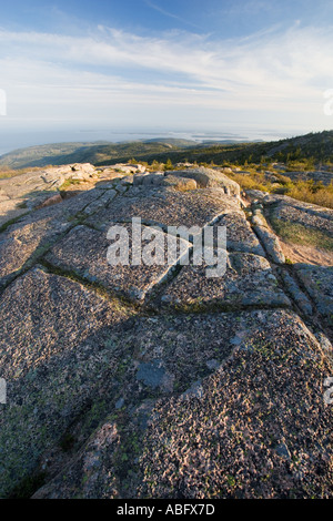 View from Cadillac Mountain Acadia Maine - Stock Photo