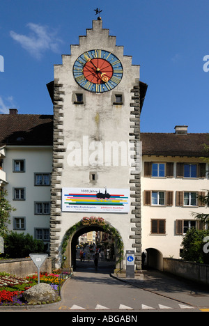 Town-gate from Stein am Rhein - Switzerland, Europe - Stock Photo