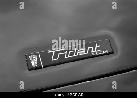 Trident Car Badge English Car Manufacturer 1966 To 1978 Stock Photo