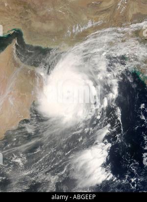 Tropical Cyclone Gonu in the Arabian Sea, June 5, 2007 - Stock Photo