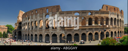 Full Panorama of the Colosseum or Flavian Amphitheatre in Rome Italy
