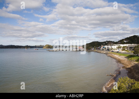 PAIHIA BAY OF ISLANDS NORTH ISLAND NEW ZEALAND May A historic town very popular with tourists - Stock Photo