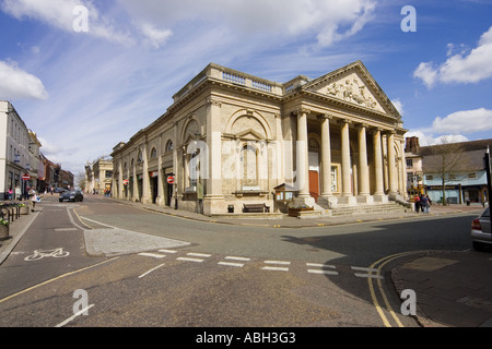 The Corn Exchange building at Bury St Edmunds in Suffolk - Stock Photo