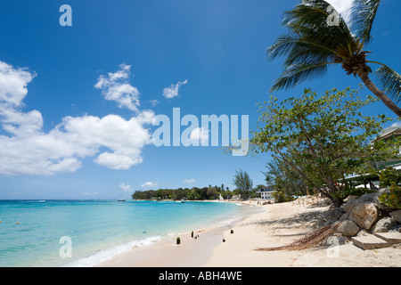 Beach at Holetown, West Coast, Barbados, Lesser Antilles, West Indies, Caribbean - Stock Photo