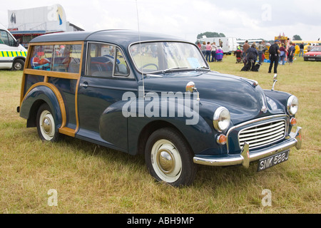 1970 Morris Minor Traveller classic car at a show at Rougham in Suffolk, UK - Stock Photo