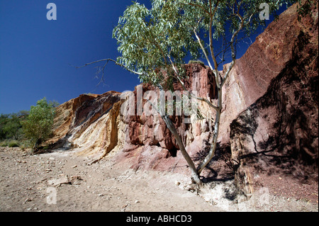 Ochre Pits West MacDonnell Ranges in Northern Territory Australia - Stock Photo