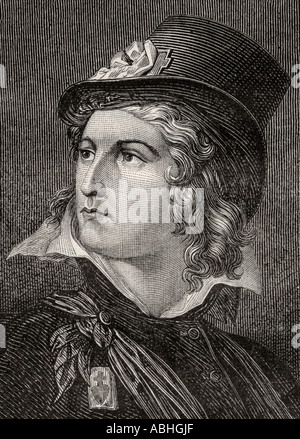 Henri du Vergier de La Rochejaquelein Count of La Rochejaquelein 1772 1794 French soldier, Officer of constitutional - Stock Photo
