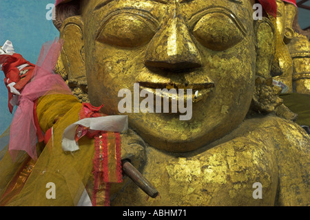Myanmar Bagan Shwezigon Paya Myanmar Bagan Betweem the villages of Nyaung U and Wetkyi in Nat Shrine - Stock Photo