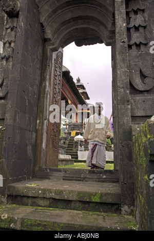Archway at Besakih temple, Bali, Indonesia - Stock Photo