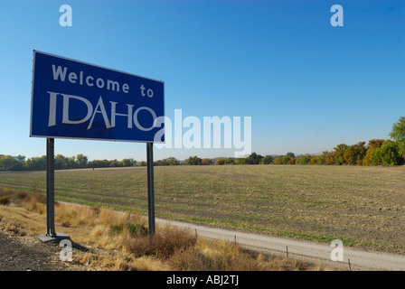 Entering Idaho state sign in United States, America - Stock Photo