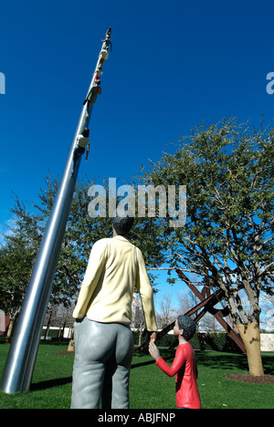 Sculpture in the park of the Nasher Museum of Art, Dallas - Stock Photo