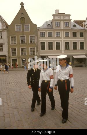 Riga Latvia 1980s former Soviet Union Three young sailors in uniform  1989 HOMER SYKES - Stock Photo