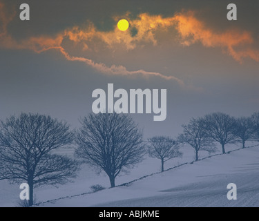 GB - GLOUCESTERSHIRE:  Winter in the Cotswolds - Stock Photo