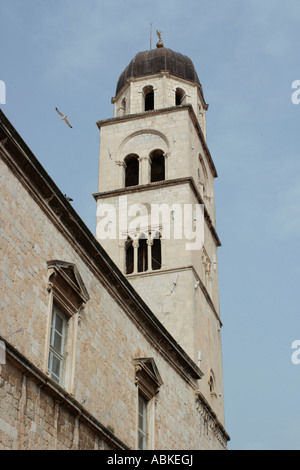 Church tower in Dubrovnic, Croatia - Stock Photo