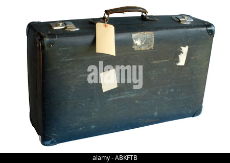 Old suitcase (with clipping path) - Stock Photo