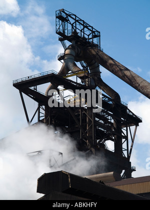 Blast furnace at Corus steel works now owned by Tata Redcar - Stock Photo