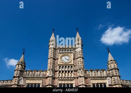 Above the Main Entrance to Temple Meads Railway Station by Matthew Digby Wyatt in Bristol England - Stock Photo
