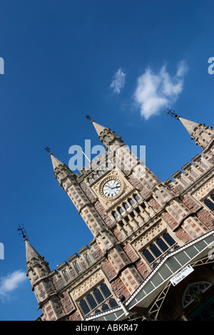 Main Entrance to Temple Meads Railway Station by Matthew Digby Wyatt in Bristol England - Stock Photo
