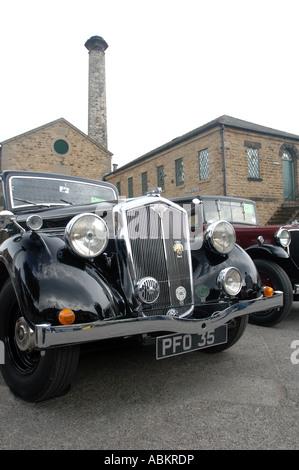 Wolseley 25 hp vintage car at the Elsecar heritage site, Barnsley, South Yorkshire, England, UK