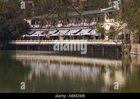 A restaurant in Hoan Kiem lake Hanoi Vietnam - Stock Photo